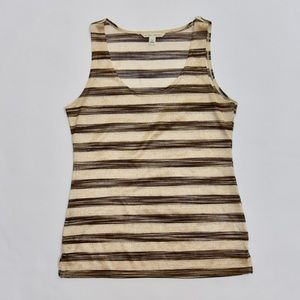 Banana Republic Brown and Bronze Striped Blouse S